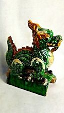 EARLY 20c CHINESE TERRA COTTA ROOF TILE OF DRAGON