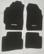 Fit 1998-2001 Nissan Altima 4Dr Black Nylon Floor Mats Carpet W/ N Emblem