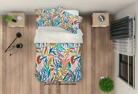 3D Cartoon Color Leaves Quilt Cover Sets Pillowcases Duvet Comforter 161