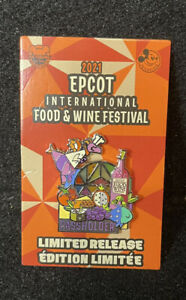 Disney Epcot Food And Wine Festival 2021 Chef Figment Passholder Pin New LR Pin