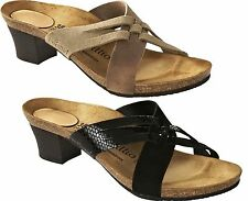 BIRKENSTOCK PAPILLIO BETTY WEDGE WOMEN'S SANDALS LEATHER TAUPE/TABACCO BLACK