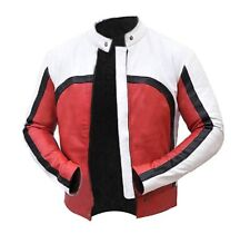 Freddie Mercury Bohemian Rhapsody White and Red Faux Leather Jacket-Men Jackets