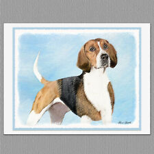 6 English Foxhound Dog Blank Art Note Greeting Cards