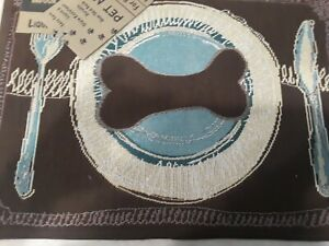 NEW Park B Smith Tapestry Pet Place Mat, 13 x 19-In. Stain/liquid resistant