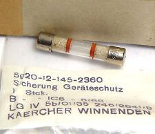10x Kärcher Geräteschutz-Sicherung, 8 x 40 mm, F 6A, 500 Volt