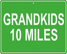 Grandkids custom mileage sign - distance to your house