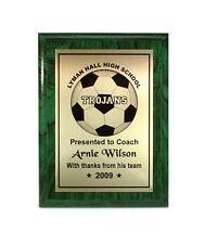 Soccer Plaque- Coach- MVP-  Customized Award-  Desktop Series- Free Lettering