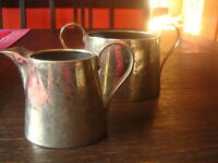 prächtiges antikes Milch & Zucker Set Milchkännchen Zuckertopf edwardian gold