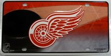 DETROIT RED WINGS LICENSE PLATE NHL HOCKEY METAL SIGN NEW L004