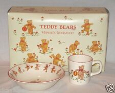 Mason's Ironstone Teddy Bears Child's Bowl and Mug set Made in England 1984