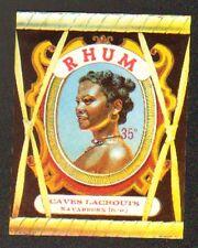 """NAVARRENX (64) ETIQUETTE de RHUM """"Ets. LACROUTS"""" 11,7x9,2cm."""