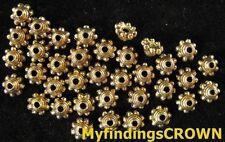 400 pcs Antiqued gold Beaded top bead caps FC850