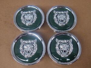 Jaguar OEM Green Wheel Center Cap Set Of 4 MNA6249AB XJ8 XK8 XJS