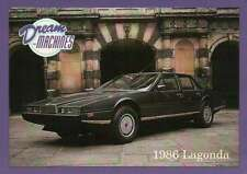1986 Lagonda, Dream Machines Cars, Trading Card, British Auto - Not Postcard
