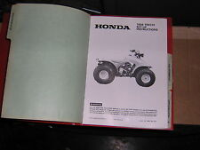 88 HONDA TRX125 TRX 125 Dealer Assembly Set Up Instructions manual tool guide