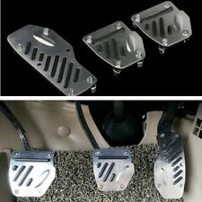 Aluminium alloy Foot Pedals Pad Covers Manual Transmission M/T 3PCS Non-Slip
