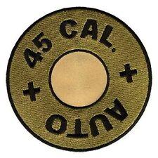 "45 CAL Calibre Caliber Gun Bullet 4"" Embroidered Fun NRA Biker MC Patch PAT-0016"