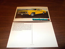 1970 Plymouth Duster 340 2-Door Coupe Advertising Postcard