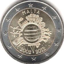 manueduc   MALTA   2012  2 EUROS  DECIMO ANIVERSARIO TYE NUEVOS
