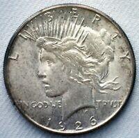 1926 S Silver Peace Dollar Coin $1 US Coin Uncirculated One Dollar Coin
