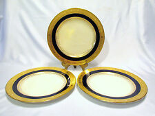 MINTON'S ENGLAND 3 COBALT SALAD PLATES GILMAN COLLAMORE & CO NEW YORK #G9445