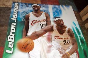Rare Vintage  ~ LEBRON JAMES ~2004 Cavaliers Basketball Poster ~Sprite NBA Promo