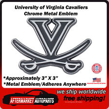 University of Virginia Cavaliers Chrome Metal Car Auto Emblem Decal Top Quality