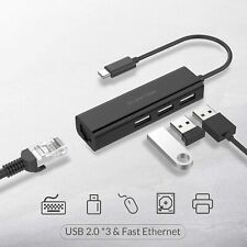 LENTION USB-C HUB to USB Splitter Ethernet LAN Internet Adapter for MacBook Pro