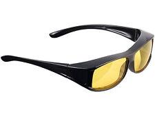 KONTRASTBRILLE Night Vision Nachtfahrbrille Nachtsichtbrille Überziehbrille NEU