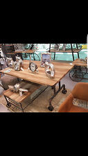 TAVOLO DESIGN VINTAGE INDUSTRIALE SHABBY CHIC FERRO LEGNO COUNTRY PUB BAR