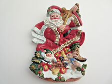 Omnibus by FITZ and FLOYD Christmas Santa & Elf Canape Hanging Decor Plate