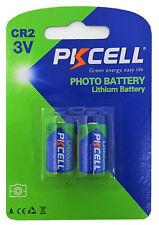 ☀ ☀ ☀ ☀ ☀ 2 x cr2 batería de litio (1 blistercards a 2 baterías) Pkcell
