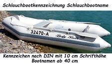 Schlauchboot Bootsnamen Bootbeschriftung DIN 10 cm Sticker Wassersport Jetski +