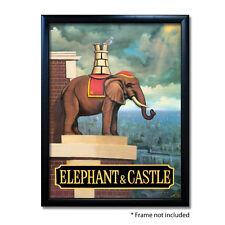 ELEPHANT & CASTLE PUB SIGN POSTER PRINT | Home Bar | Man Cave | Pub Memorabilia