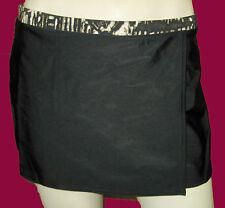GOTTEX PROFILE black white trim SWIM SKIRT with built in bikini bottom sz- 14