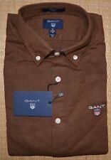 GANT Tech Prep Slim Fit Shirt Oxford 70% cotton 30% Linen Brown S,L