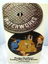 Vtg LEAKY PIPE WATERWORKS CARD GAME 1972 Parker Brothers Water Pipe Connecting