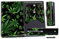 Designer Skin for XBOX ONE 1 Gaming Console+2 Controller Sticker Decal WEEDS BLK