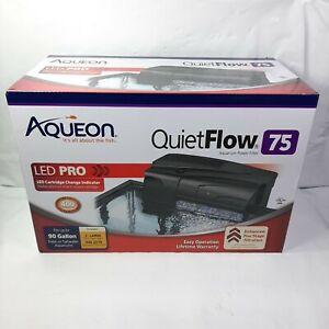 Aqueon Quite Flow 75 LED Pro 90 Gal Aquarium Power Filter Kit  NEW
