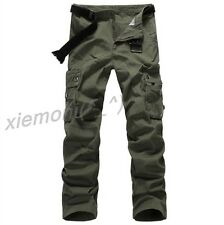 MENS CARGO COMBAT WORK MECHANIC LEISURE TROUSER PANT ARMY GREEN MILITARY Plus 40