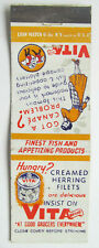 New listing Vita Brand Herring Fillets Fish Products Advertisement 20 Strike Matchbook Cover