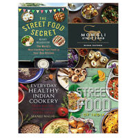 Street Food Secret,Mowgli,Everyday Healthy Indian Cookery 4 Books Collection Set