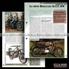 #vm115.06 ★ HERCULES K 125 BW (ALLEMAGNE) MOTO ★ Fiche Véhicule Militaire