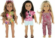 9 Piece Doll Travel Clothes Set for 18 inch Doll, by Pzas Toys