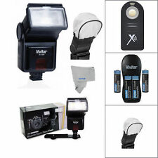 Speedlight Slave Flash for Nikon D7100 D7000 D5100 D3200 D3100 by VIVITAR/ CLOTH