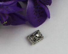 25PCS Antiqued silver Skull Rectangle 3 holes Link Spacers #22077