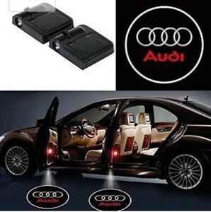 2pc Wireless Magnetic Car Door Light CourtesyLED Logo Projector For Audi