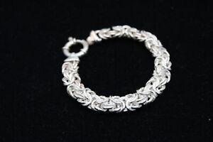 .925 Sterling Silver Chunky Byzantine Link BRACELET (29g)