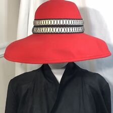 Oscar De La Renta Women's Large Brim Red Hat
