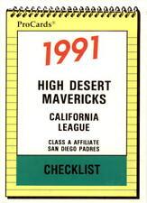 1991 High Desert Mavericks ProCards #2415 Checklist